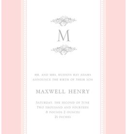 Paper Belle Paper Belle - Linen Border Pink