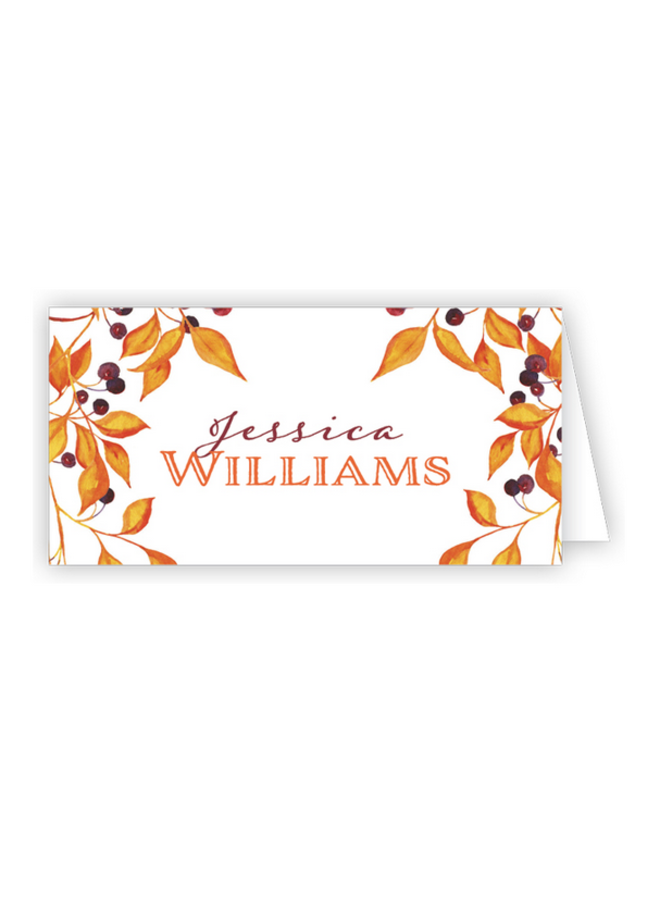 Place Cards - Autumn Leaves
