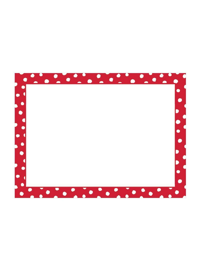 Place Cards - Small Dots Red