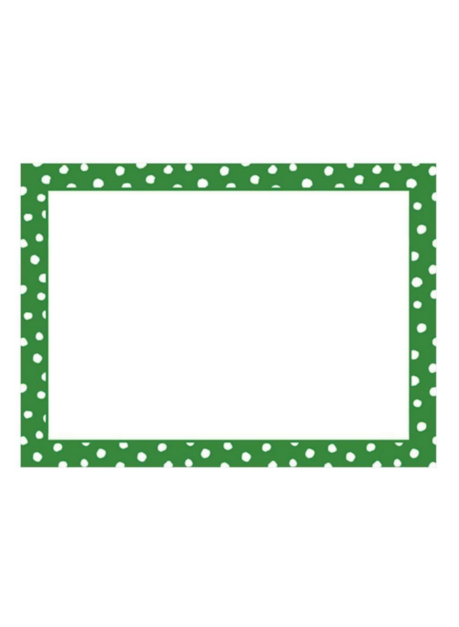 Place Cards - Small Dots Green