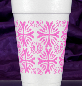 Print Appeal Foam Cups - Pink Filigree