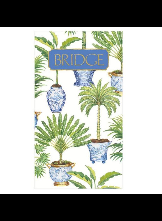 Bridge Score Pad  - Potted Palms