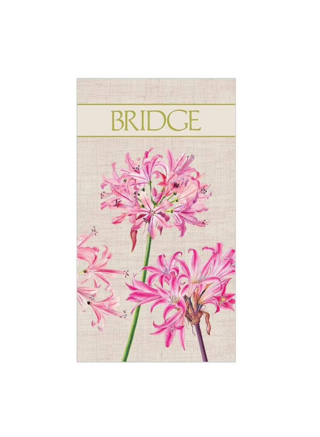 Bridge Score Pad - Surprise Lily