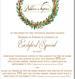 Address to Impress Address to Impress - Wreath