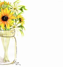 Address to Impress Address to Impress - Mason Jar w/ Sunflowers