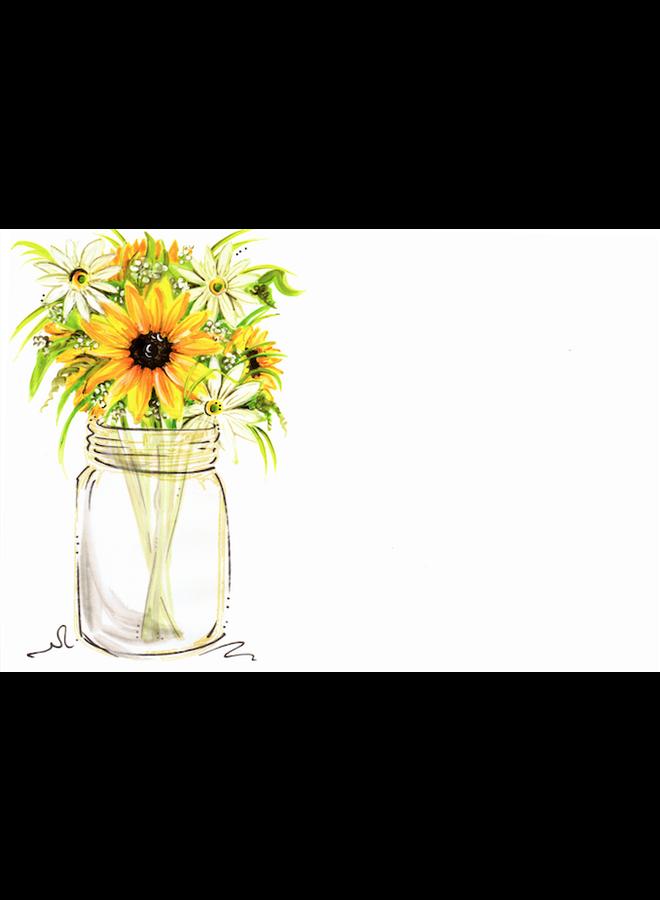 Address to Impress - Mason Jar w/ Sunflowers