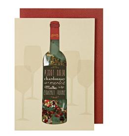 Meri Meri Greeting Card - Wine Shaker