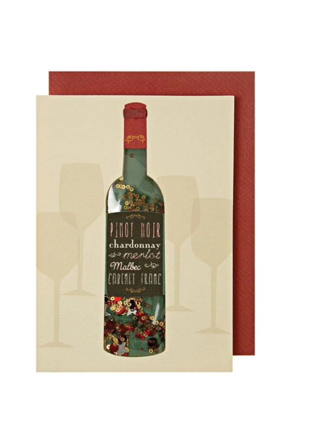 Greeting Card - Wine Shaker
