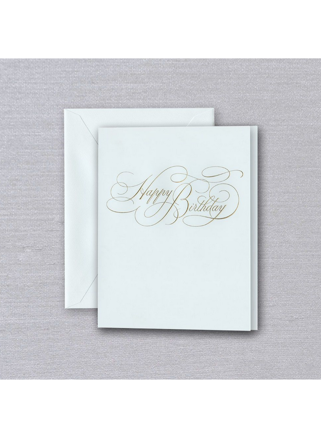Calligraphy Happy Birthday Card