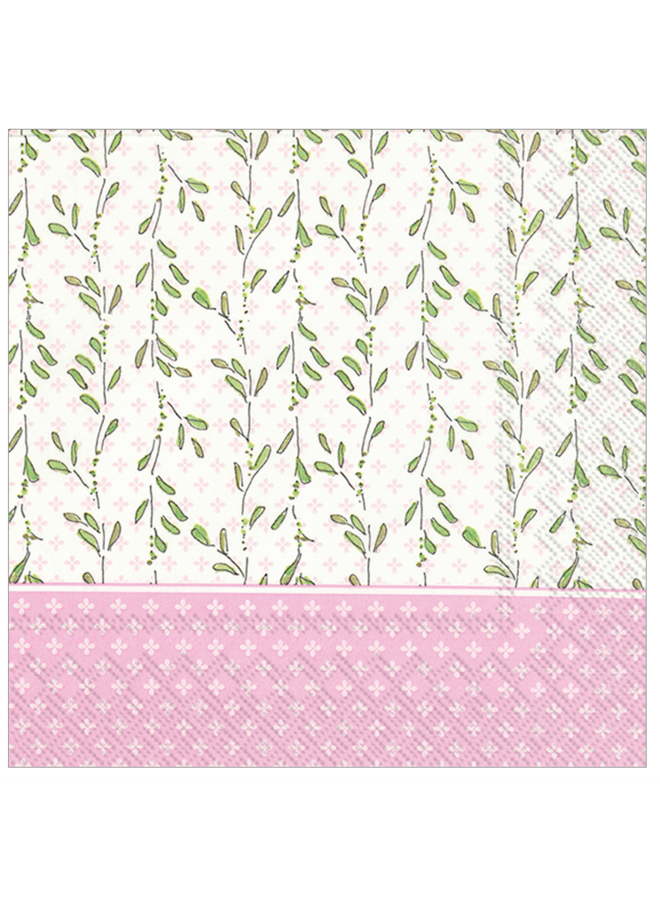 Luncheon Napkin - RosanneBeck Pink Baby Carriage