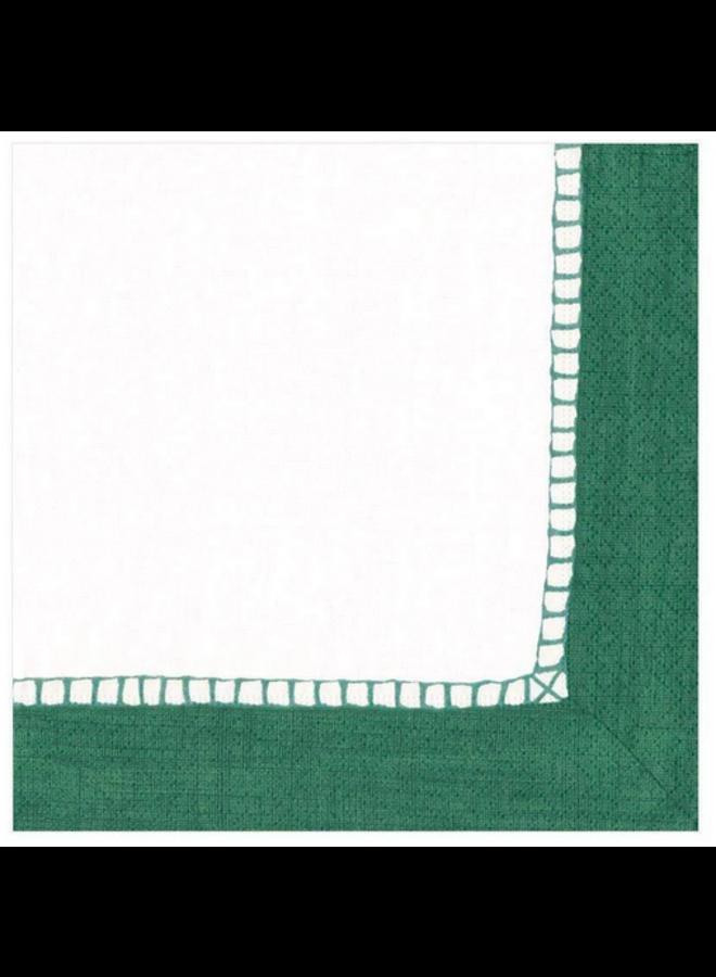 Luncheon Napkin - Linen Border Emerald