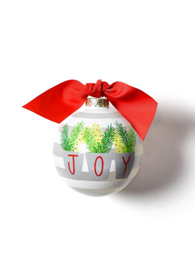 Joy Branches Glass Ornament