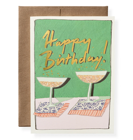 Karen Adams Greeting Card - Birthday Bubbles