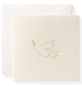 Karen Adams Enclosure Card - White Dove