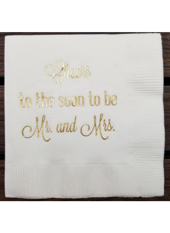 Cocktail Napkin - Soon to be Mr & Mrs - Pkg of 15