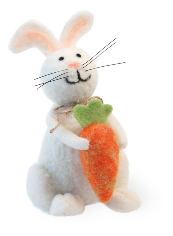 Felted Bunny & Carrot