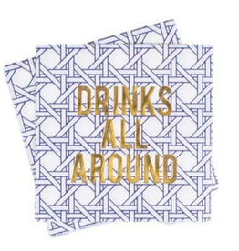 8 Oak Lane Cane Beverage Napkins