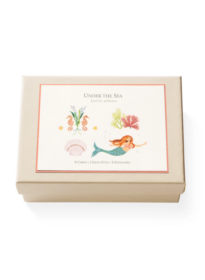 Note Card Box - Under the Sea
