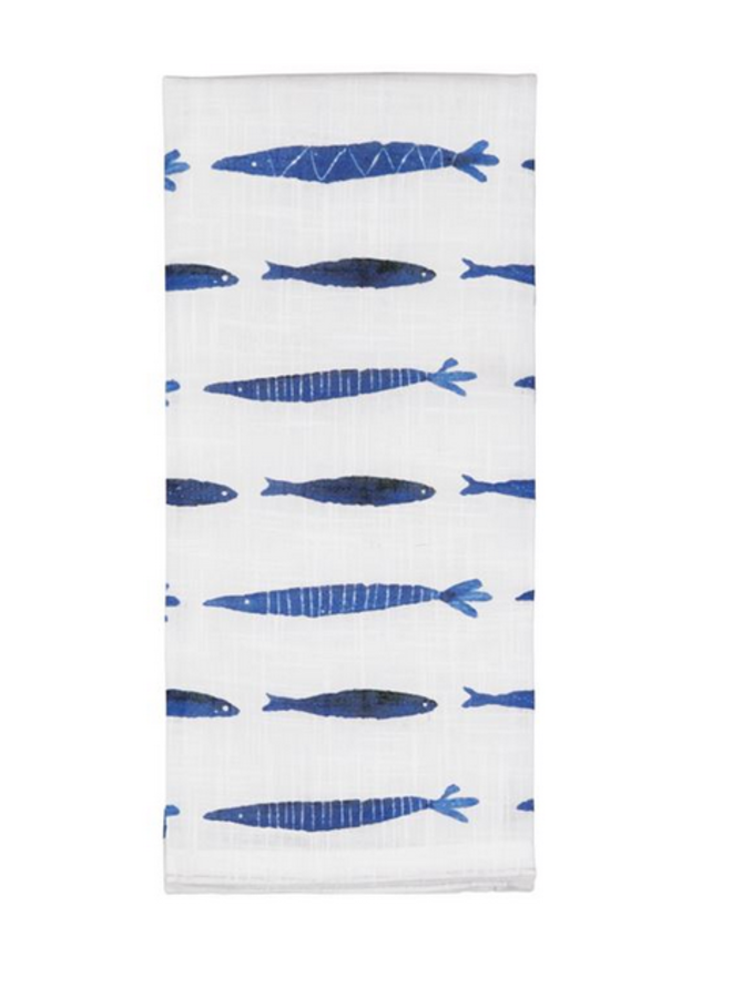 Multi Blue Fish Towel