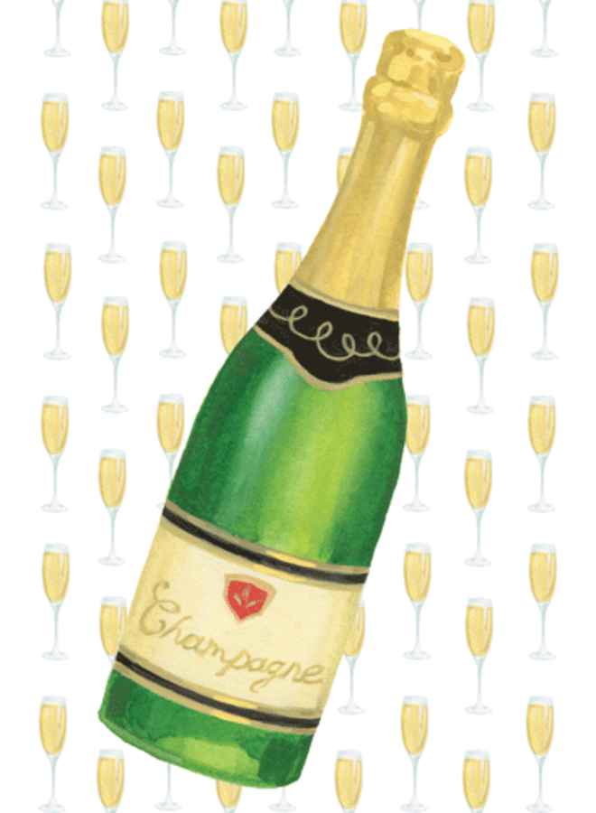 Greeting Card - Champagne Bottle
