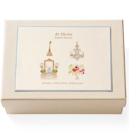 Karen Adams Note Card Box - At Home