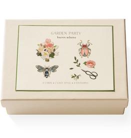 Karen Adams Note Card Box - Garden Party