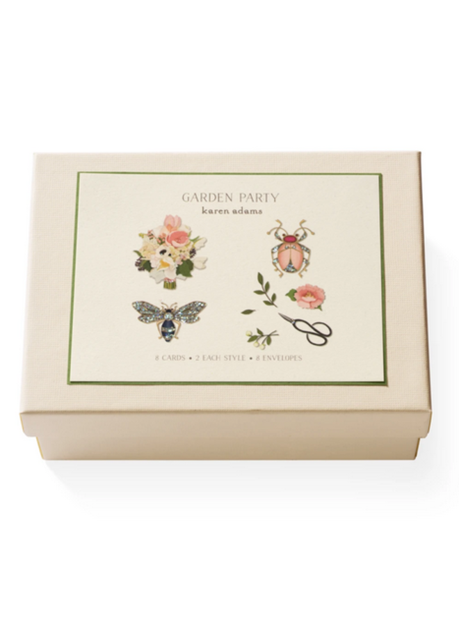 Note Card Box - Garden Party