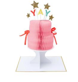 Meri Meri Greeting Card - Yay! Cake Stand-Up