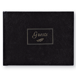CR Gibson Guest Book - Black