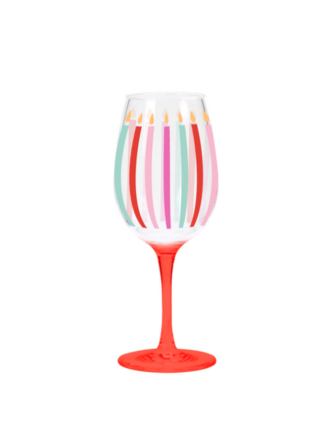 Acrylic Wine Glass - Candles