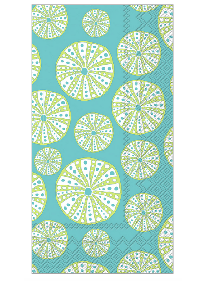 Guest Towel - Turquoise Urchin