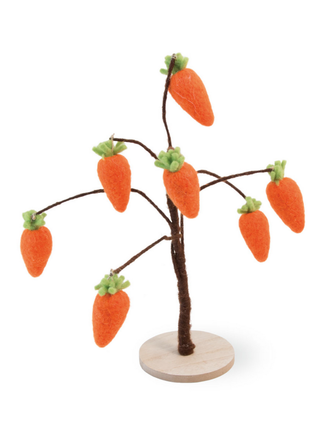 Felted Carrot Tree