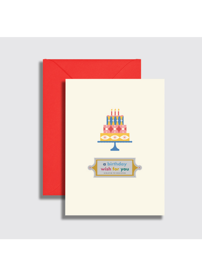 Scratch Off Card - A Birthday Wish For You