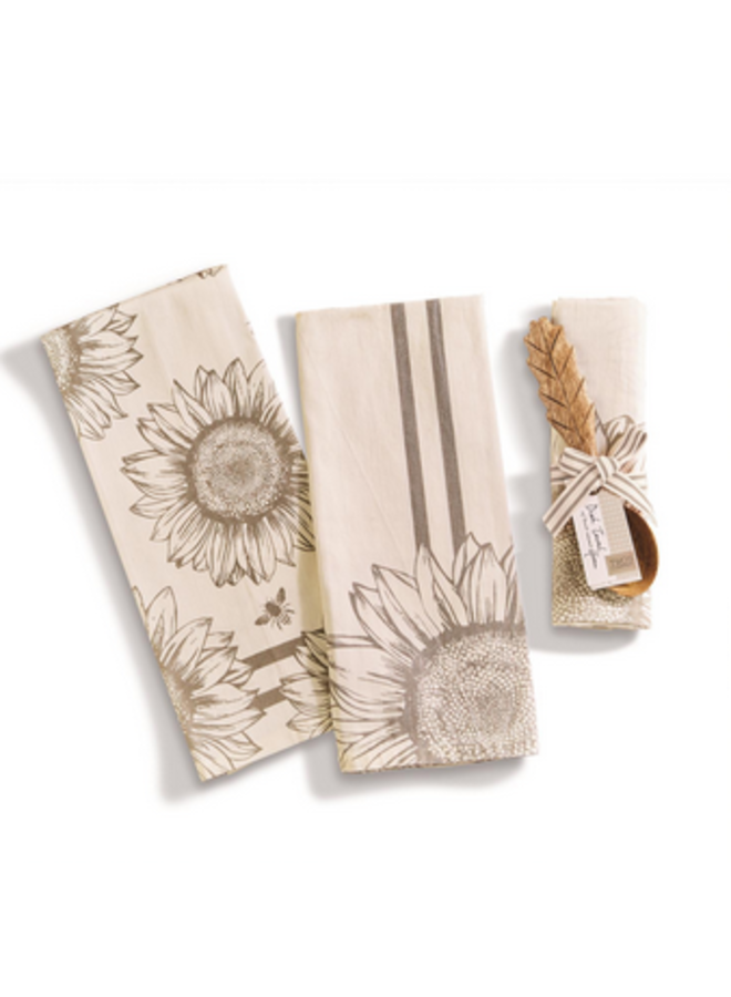 Sunflower Dish Towel & Spoon
