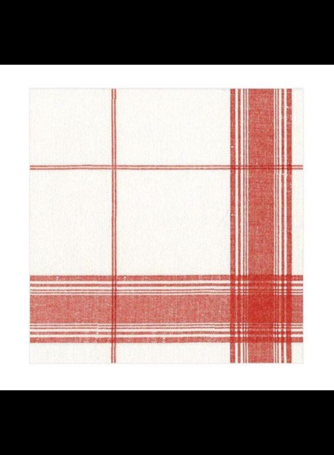 Cocktail Linen Napkin - Belgian Linen Red