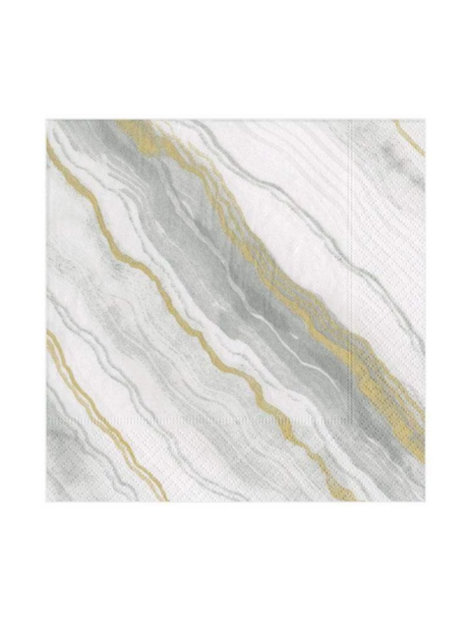 Cocktail Napkin - Marble Grey