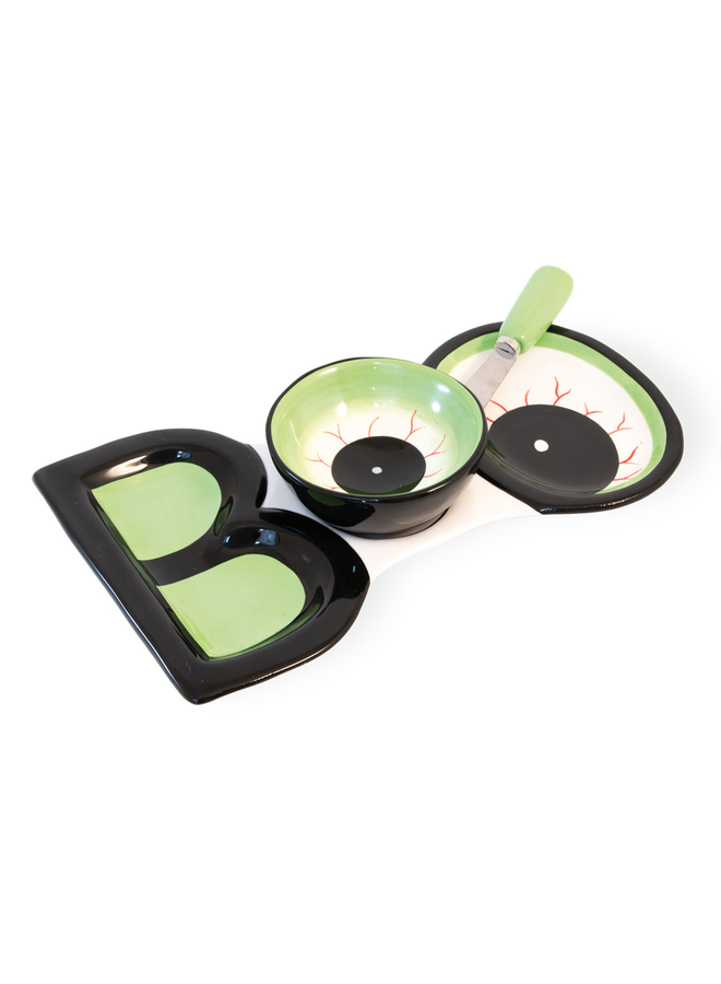 Boo Serving Plate w/ Bowl & Spreader