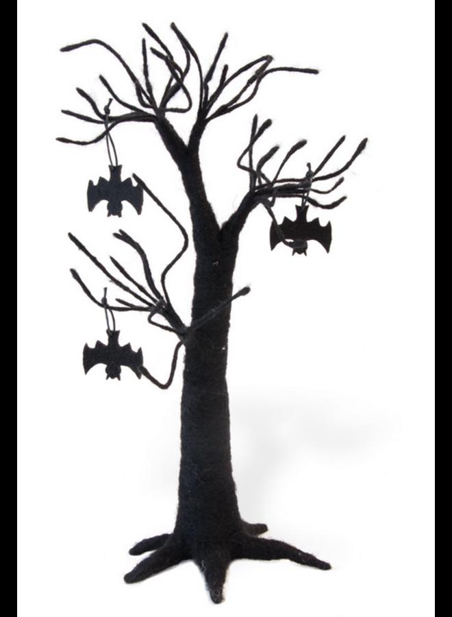 Black As Night Felt Tree