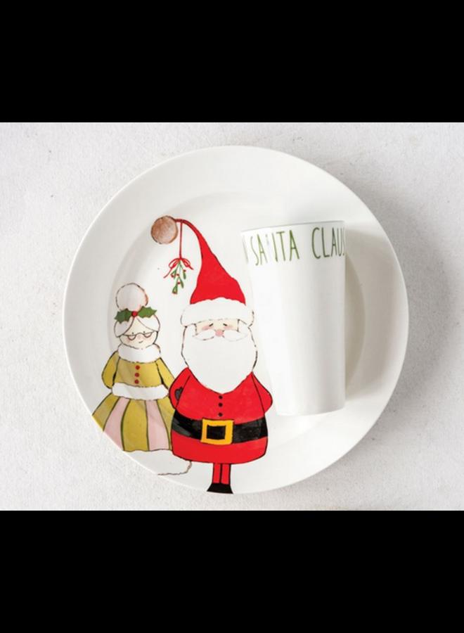 Santa Claus Plate w/ Cup