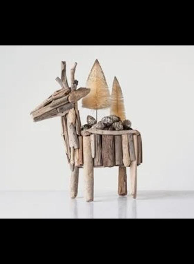 Driftwood Reindeer Planter