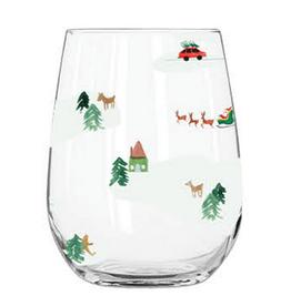 CR Gibson Acrylic Stemless Wine Glass - Snow Mtn