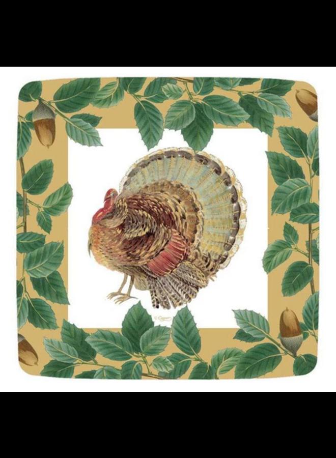 Salad Plate - Turkey and Acorns Gold