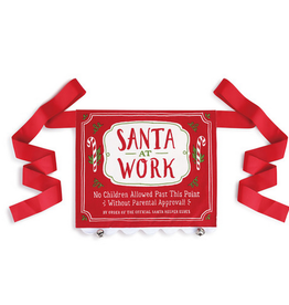 Demdaco Santa at Work Banner
