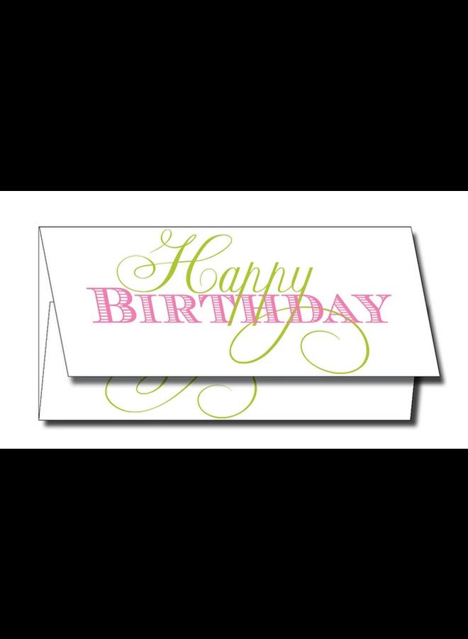 Greeting Card - Happy Birthday Script