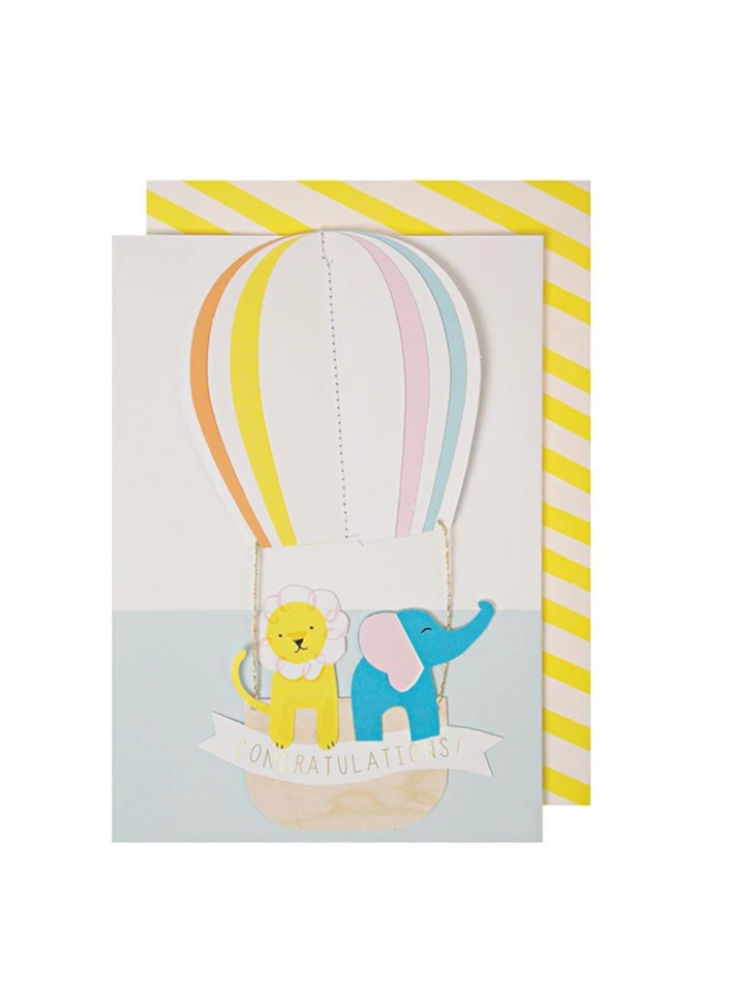 Greeting Card - Hot Air Balloon Congratulations