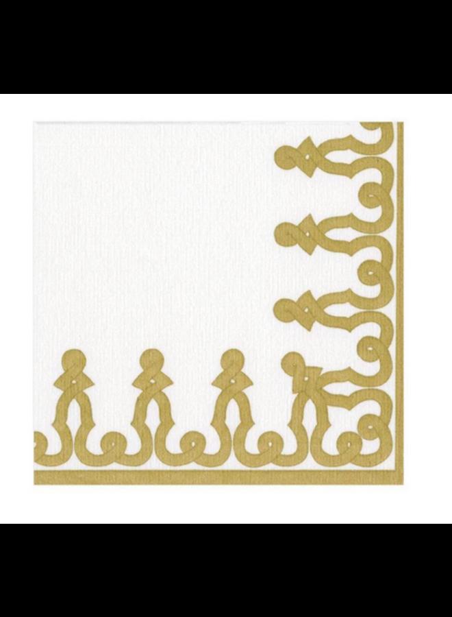 Cocktail Linen Napkin - Dessin Passementerie Gold
