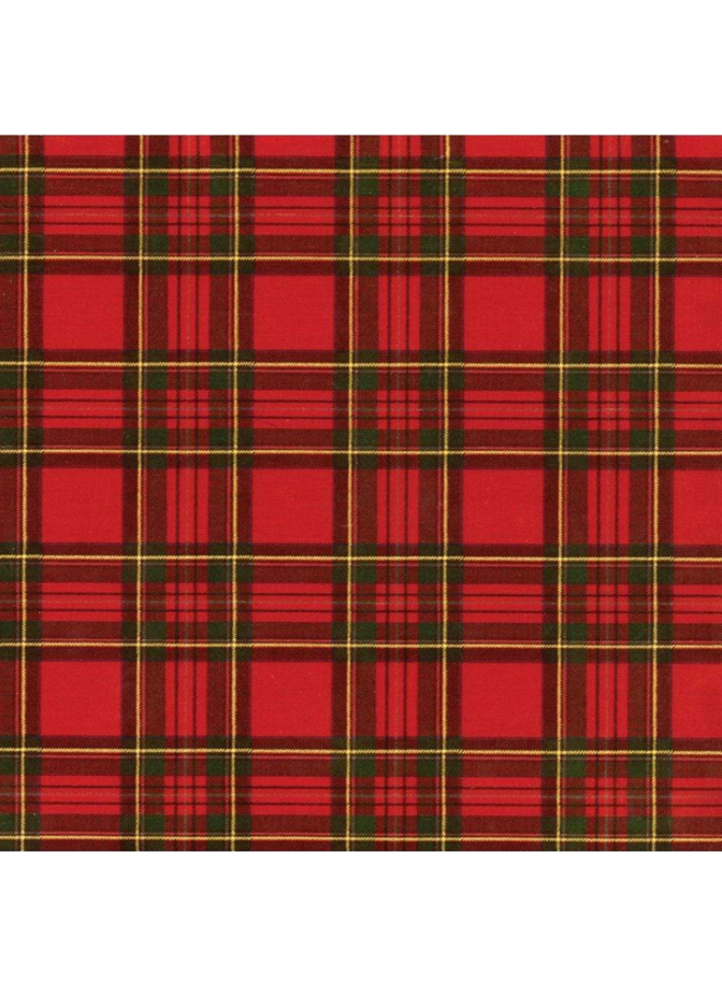 Wrapping Paper - Royal Plaid Foil