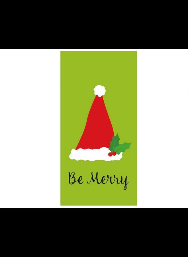 Hankies - Be Merry Lime Green