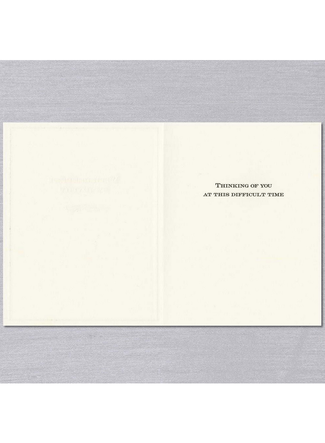 With Deepest Sympathy Condolence Card