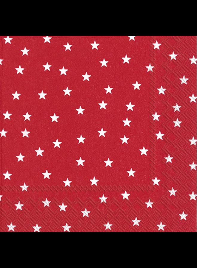 Cocktail Napkin - Little Stars Red